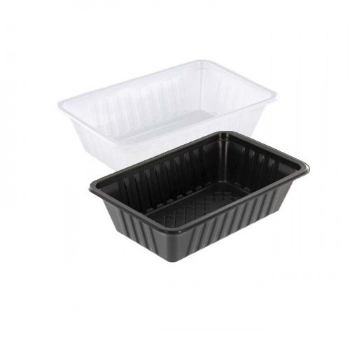TastToe Plastic frietbakjes A9 in Zwart of Wit