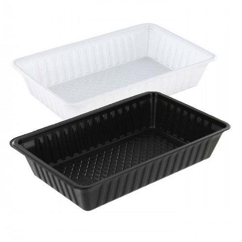 TastToe Plastic frietbakjes A14 in Zwart of Wit