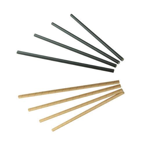 SIER Papieren rietjes Zwart of Kraft  (FSC) Ø  6mm - 20 cm