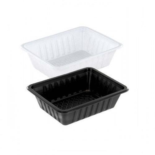 TastToe Plastic frietbakjes A7 in Zwart of Wit
