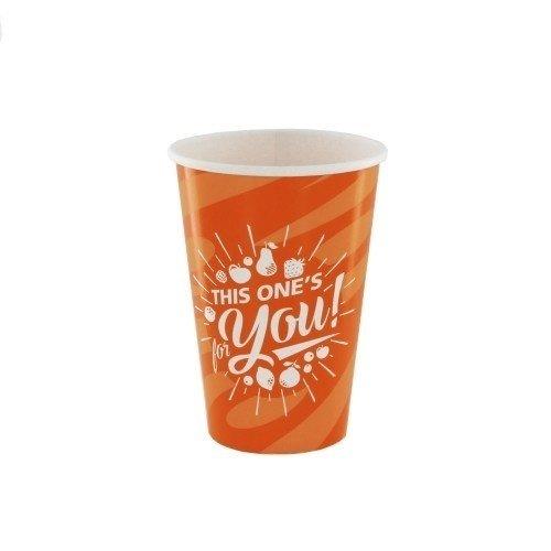 Kartonnen Milkshake bekers Oranje For You