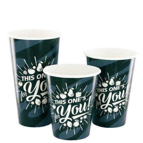 Kartonnen Milkshake bekers Grijs/Zwart For You