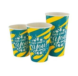 Kartonnen Milkshake bekers Blauw/Geel