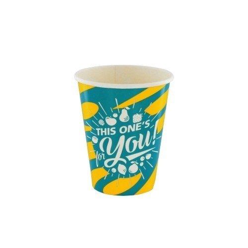 Kartonnen Milkshake bekers Blauw/Geel For You