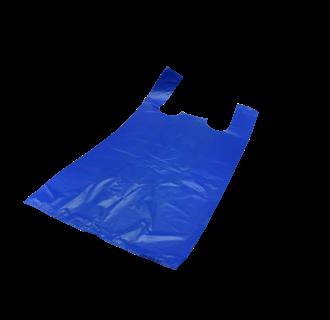 Plastic Markt tassen Blauw