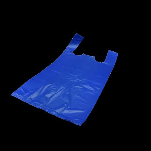 Plastic Markt tassen Blauw HDPE
