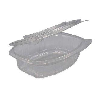 Plastic bakjes vaste deksel Ovaal