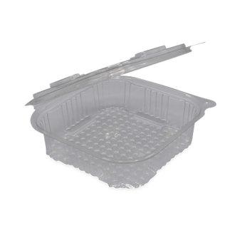 Plastic bakjes vaste deksel vierkant