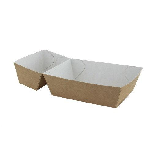 TastToe 50 st. Frietbakjes A7+1 (A23) ECO Karton Bruin/Wit