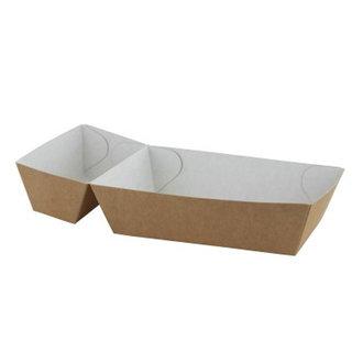 Frietbakjes A9+1 (A22) ECO Karton Bruin/Wit