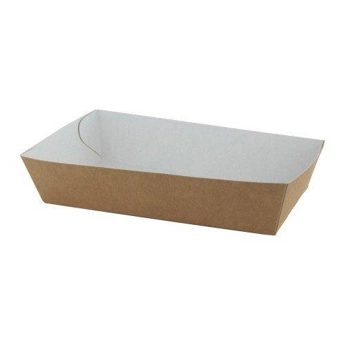 TastToe 50 st. Frietbakjes A13 ECO Karton Bruin/Wit