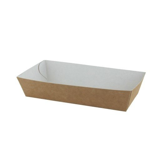 TastToe 50 st. Frietbakjes A14 ECO Karton Bruin/Wit
