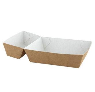 Frietbakjes A14+1 (A20) ECO Karton Bruin/Wit