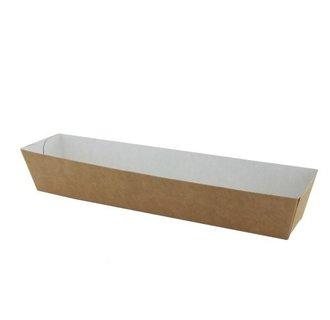 Frikandelbakjes A16 ECO Karton Bruin/Wit
