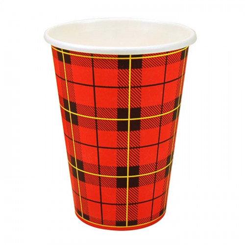 Coffee2Go Kartonnen Schotse Ruit Koffiebeker Scotty in 180ml - Doos 2500 stuks