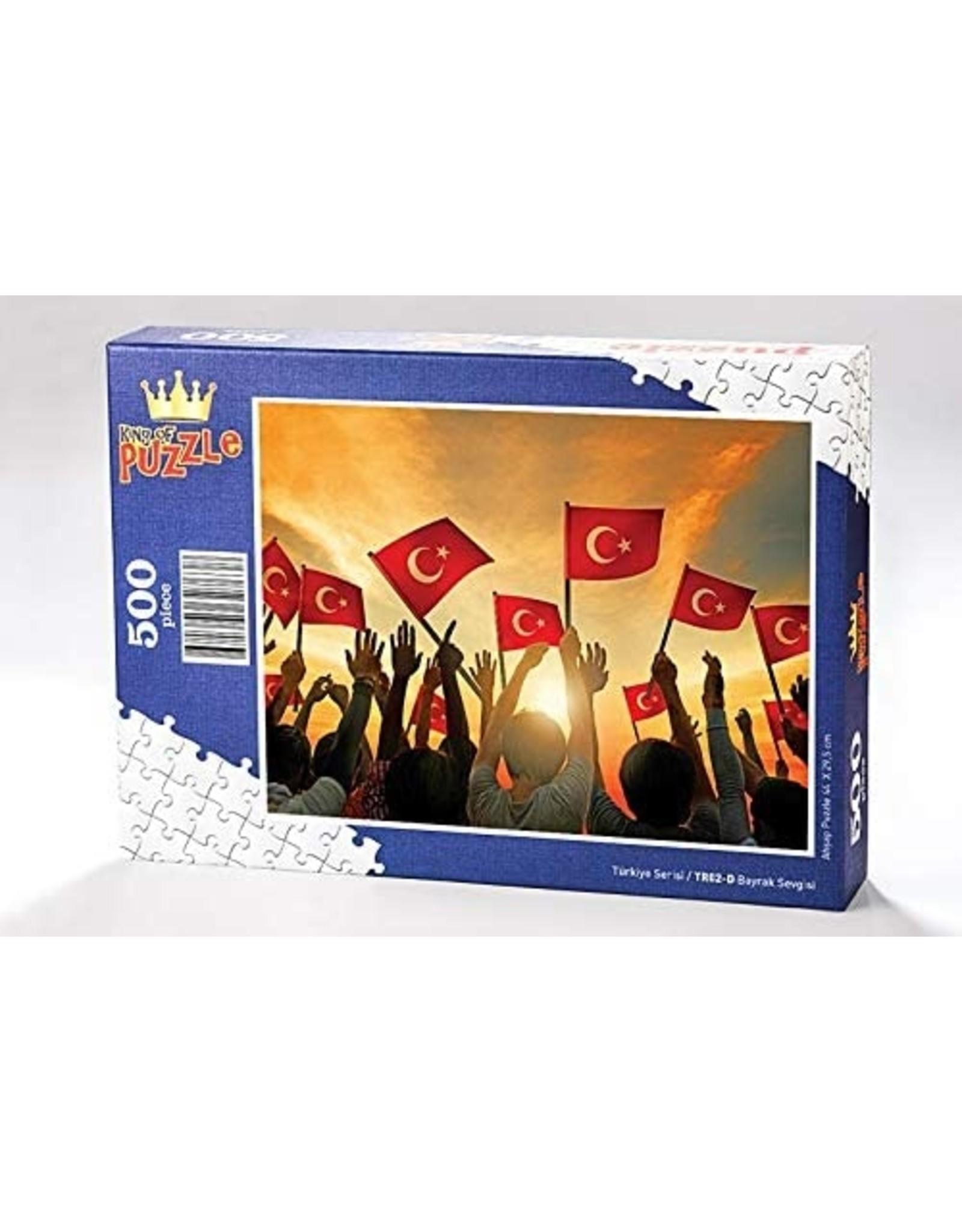 Yapboz Bayrak Sevgisi Ahşap Puzzle 500 Parça