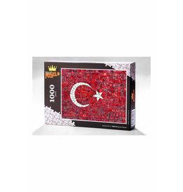 Yapboz Bayrak Mozaik Ahşap Puzzle 1000 Parça