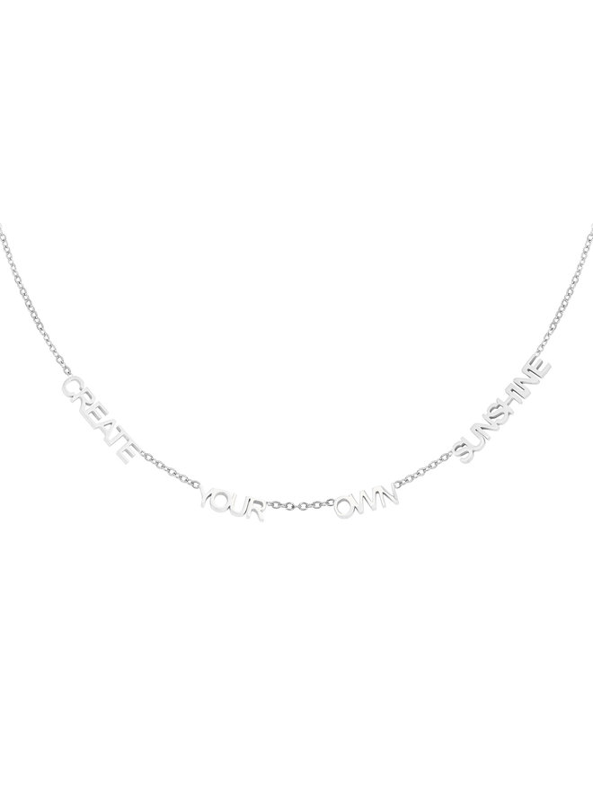 Ketting Create Your Own Sunshine silver