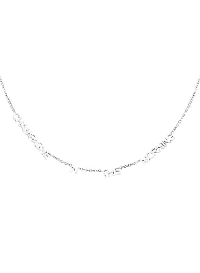 Ketting Champagne In The Morning silver