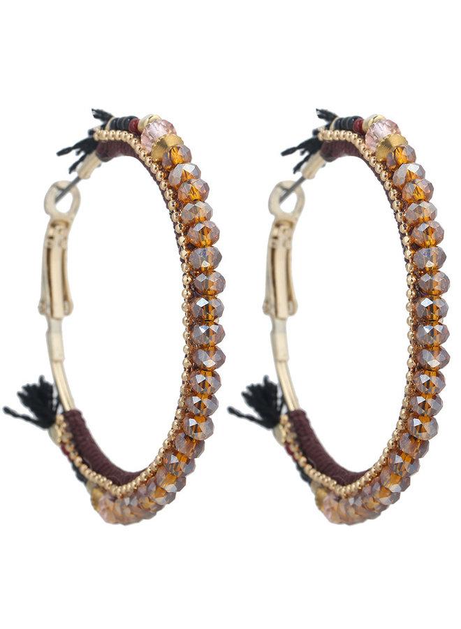 Oorbellen Glamorous Beads gold