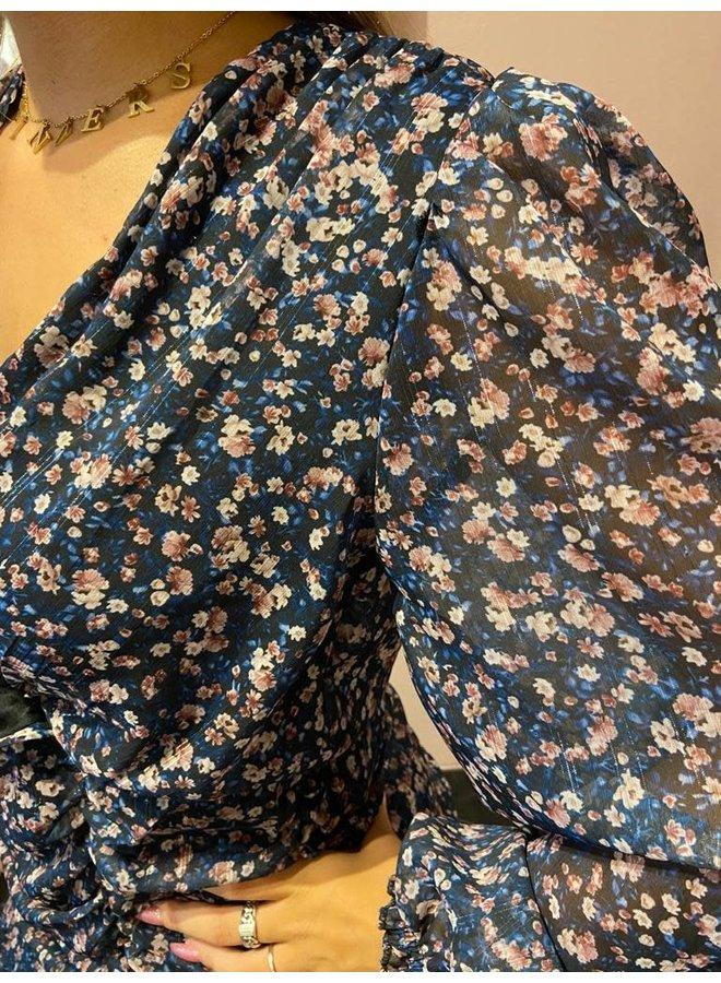 Jurk blossom blauw
