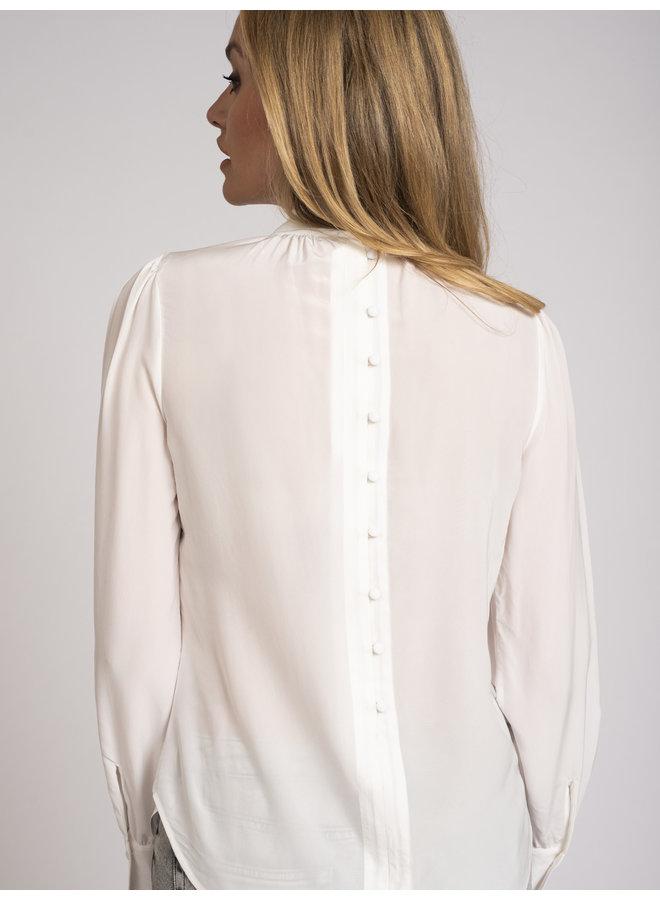 sable high neck blouse off-white