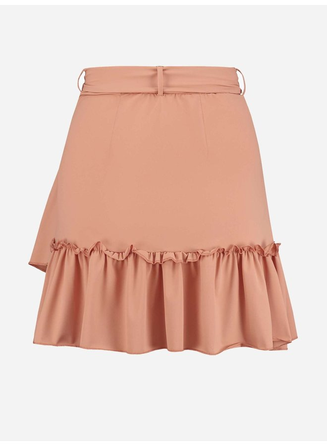 Suzy ruffle wrap skirt (coral)