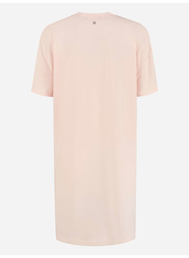 Flamingo oversized tee dress (rose smoke)