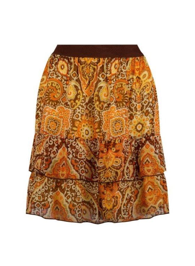 Skirt short ruffle golden hour