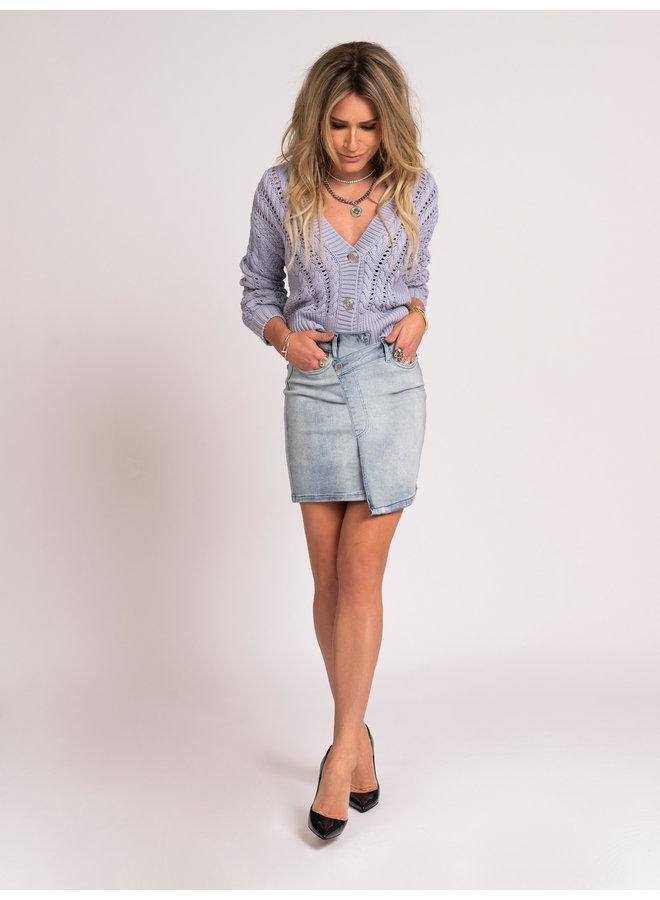 Chloe denim skirt (light denim)