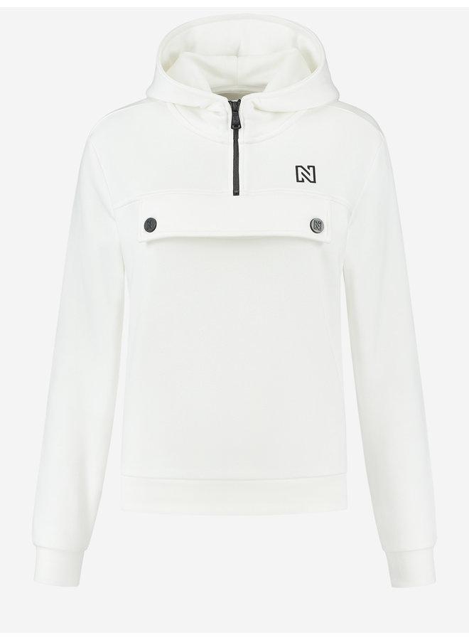 Anorak sweat hoodie (star white)