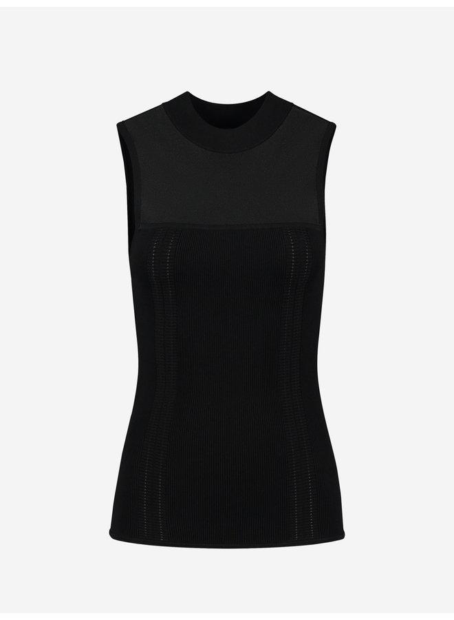 Gaby sleeveless top (black)