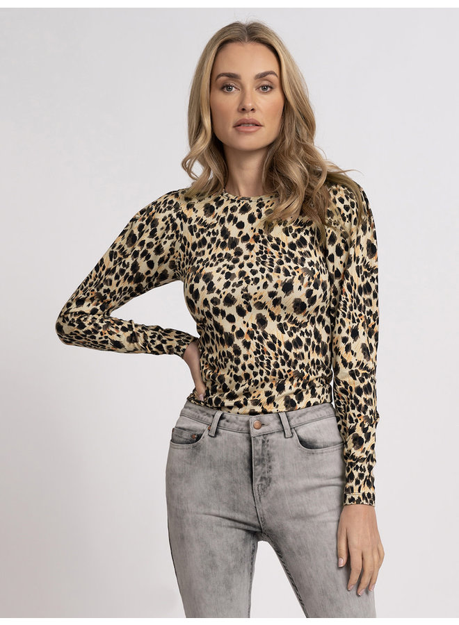 Elio fitted top (pencil panther melange)