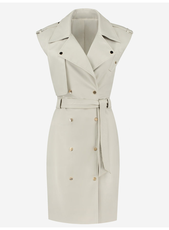 Magno trench dress (almond)