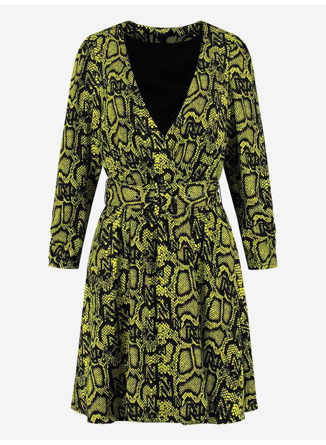 Snakey dress (poison green)