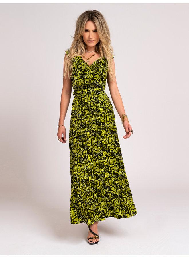 Snakey maxi dress (poison green)