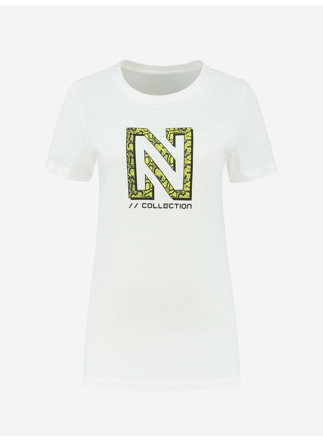 Snakey N logo t-shirt (star white)