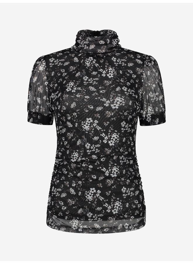 Dusty flower mesh top