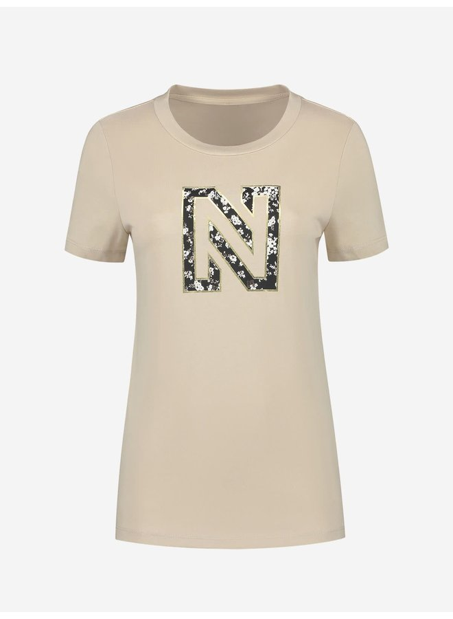 Nikkie flower logo t-shirt Dusty