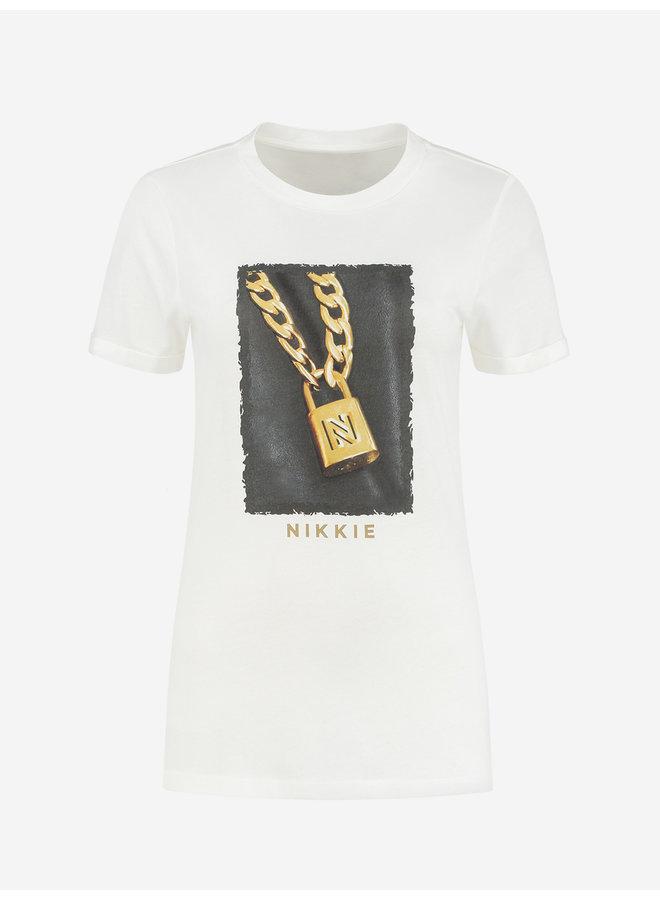 NIKKIE Padlock T-Shirt (Star white)