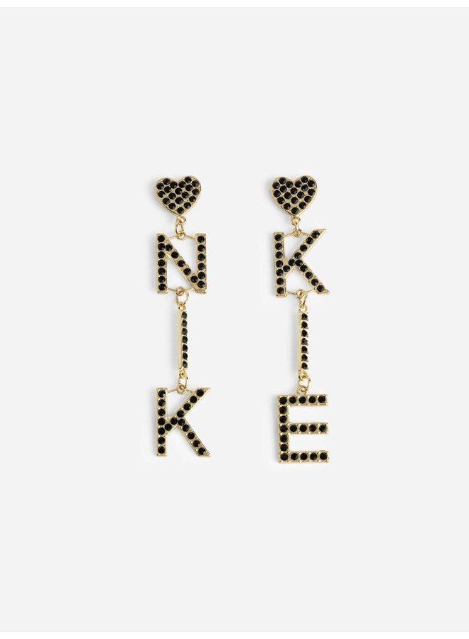 Pleun logo earrings (Gold)
