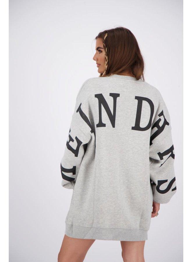 Yara Sweater dress (Quiet Grey)