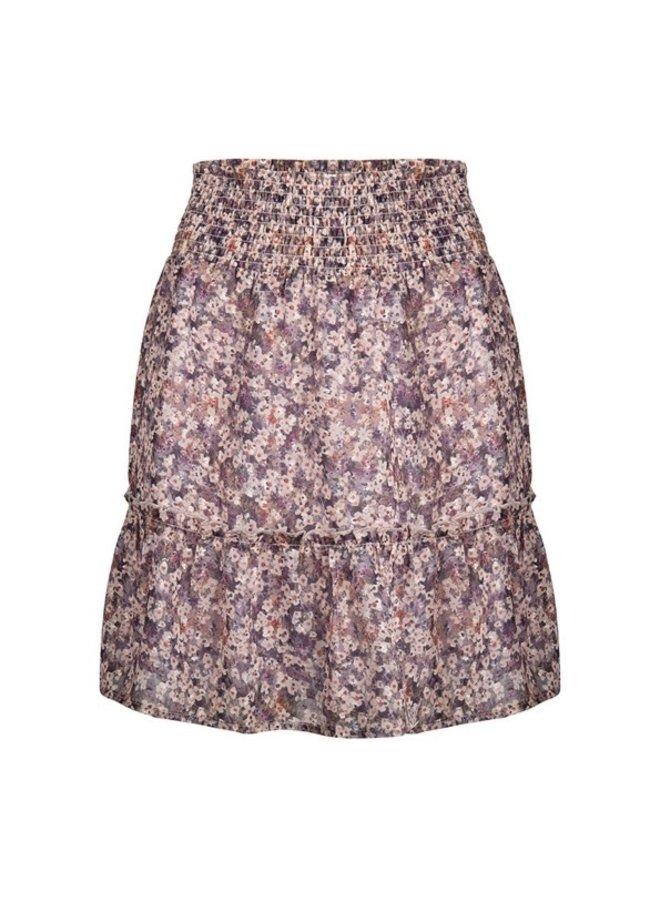 Skirt short smock wb lilac flo