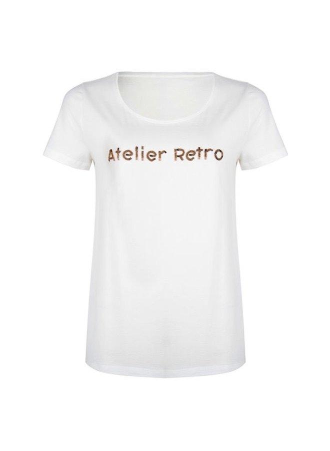 T-shirt atelier retro off white