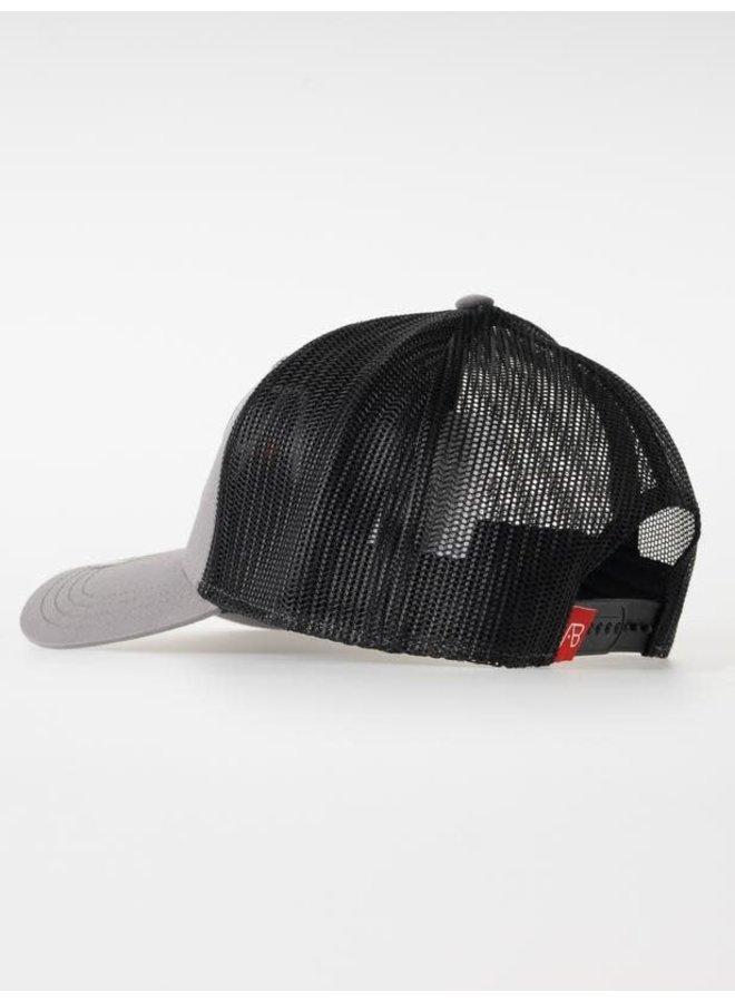 Retro Trucker Cap 2 Tone (Black/Grey)