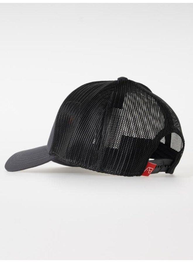 Retro Trucker Cap 2 Tone (Black/Dark grey)