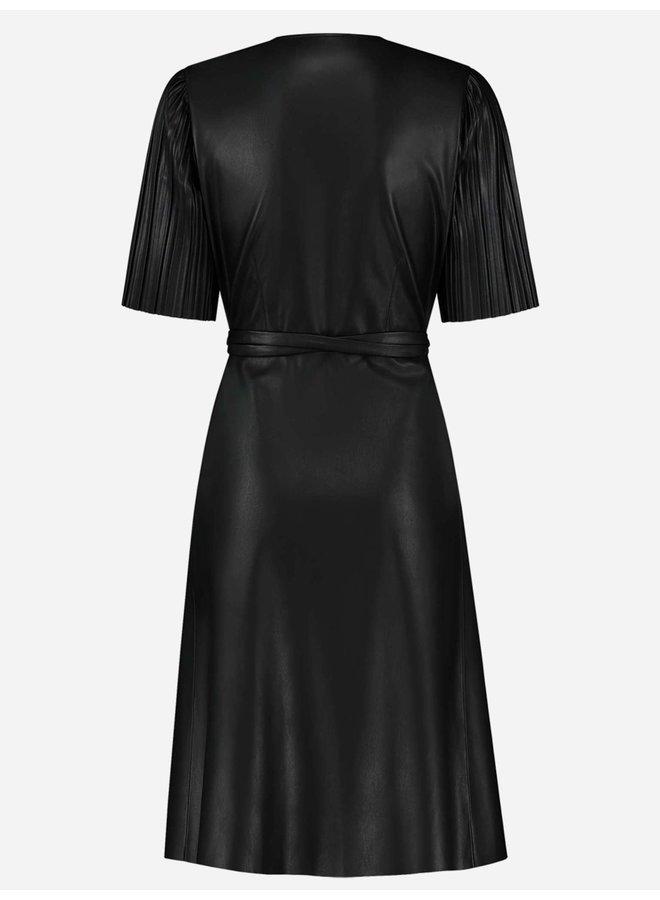 Max wrap dress (black)