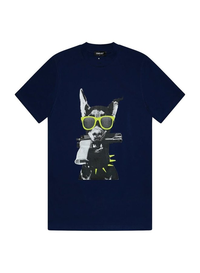 T-shirt Dobermann Indigo
