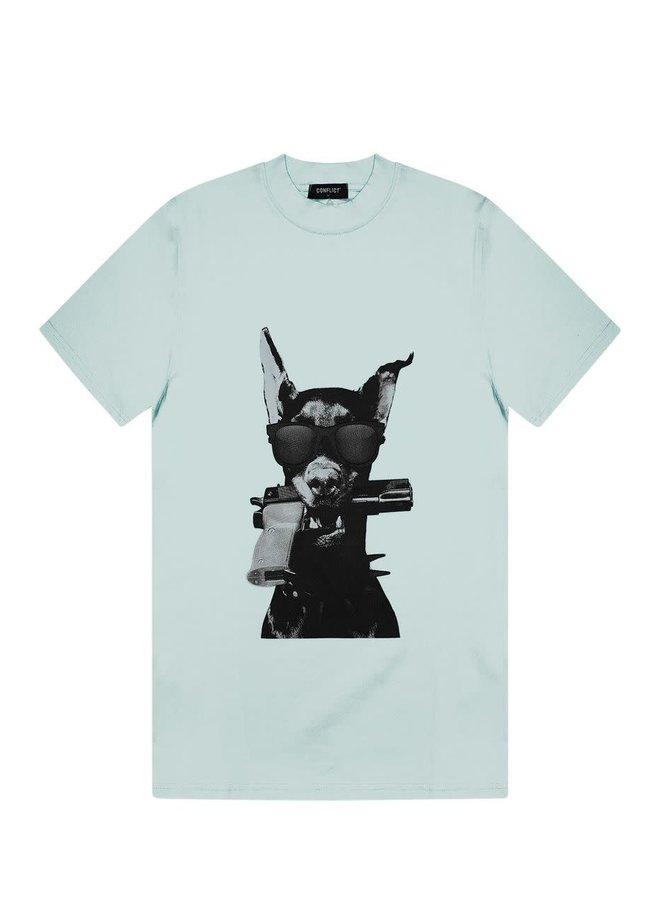 T-shirt Dobermann Light Blue