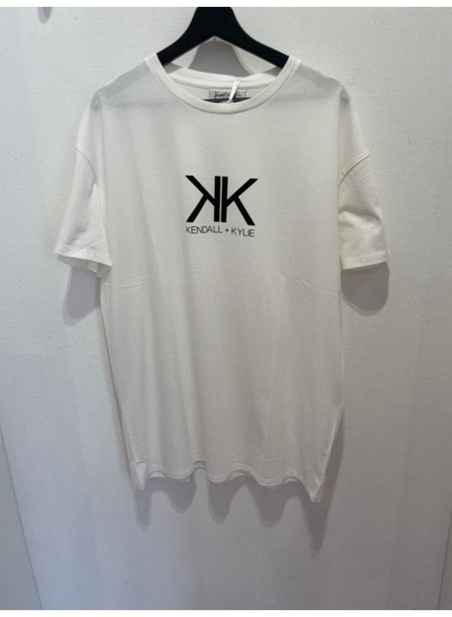 KK Active logo longfut t-shirt (White)